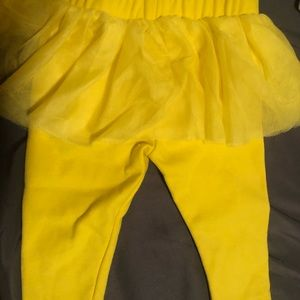 Tutu leggings with ruffle skirt attached to it